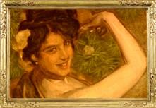 """Painting by Anselmo Miguel Nieto, """"Anita Delgado la Camelia"""" 1905"""