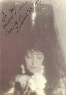 Photograph which I dedicated to the painter Néstor Martín-Fernandez de la Torre.