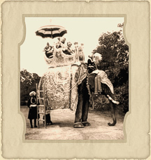 The Maharajah of Kapurthala on elephant