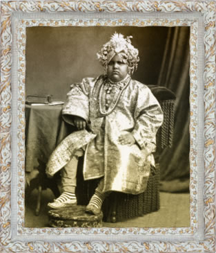 The Maharajah of Kapurthala when hi was a child
