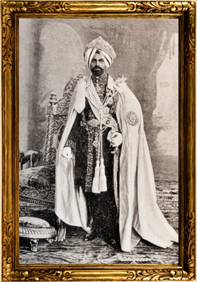 H.R.H. The Maharajah of Kapurthala, my husband.